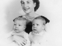 Mom and Twins, NYC, abt 1954
