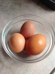 First Three Eggs From My Hens